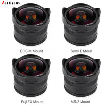 7artisans 7.5mm f2.8 fisheye lens Fixed Focus Lens180 APS C Manual Fixed Prime Lens For Canon EOS M/Fuji FX/ M4/3