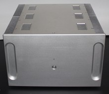 Full aluminum big Rear stage amplifier chassis case enclosure with heatsink (Size: 400mm*250mm * 410mm)