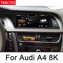 Für Audi A4 8K 2008 ~ 2016 MMI Auto Audio Multimedia player Android GPS Navigation karte WiFi 3G 4G Bluetooth 1080P HD bluetooth