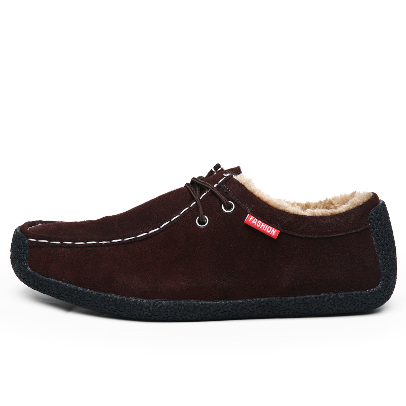 Big Size 50 Winter Pluche Warm Houden Mannen Koe Suède Schoenen Mode Mannen Flats Schoenen Casual Mannelijke Lederen Schoenen mannen Sneakers - 4