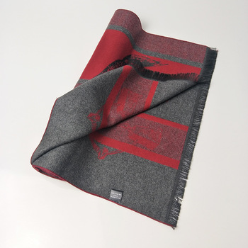 2020 Winter Cashmere Scarf For Men Luxury Animal Print Pashmina Scarfs 180*30cm Fashion Men Business Neck Scarves Long Stole Red