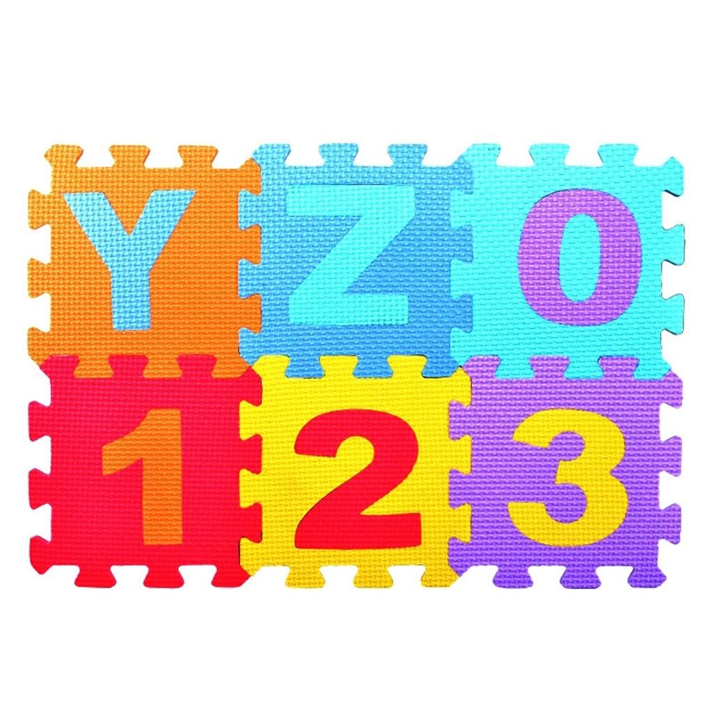 36 pcs Kid Puzzle Play Mat with EVA Foam Interlocking Exercise Tiles Pad Floor Carpet | Happy Baby Mama