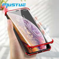 Musyue Magneto Magnetische Adsorption Fall Für iPhone XR Xs Xs Max 7 8 Plus Magnetische Fall 9H Gehärtetem Glas keine Rahmen Abdeckung Coque
