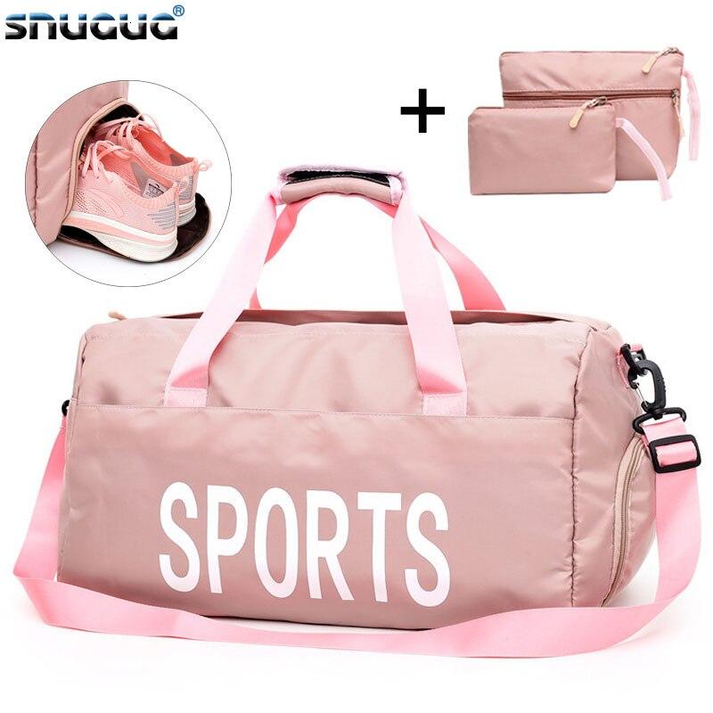 3PC/Set Swim Sport Bag Men For Gym Outdoor Training Fitness Bag Brand Travel Gymtas Sac De Sport Dry Wet Large Sports Bag Womens