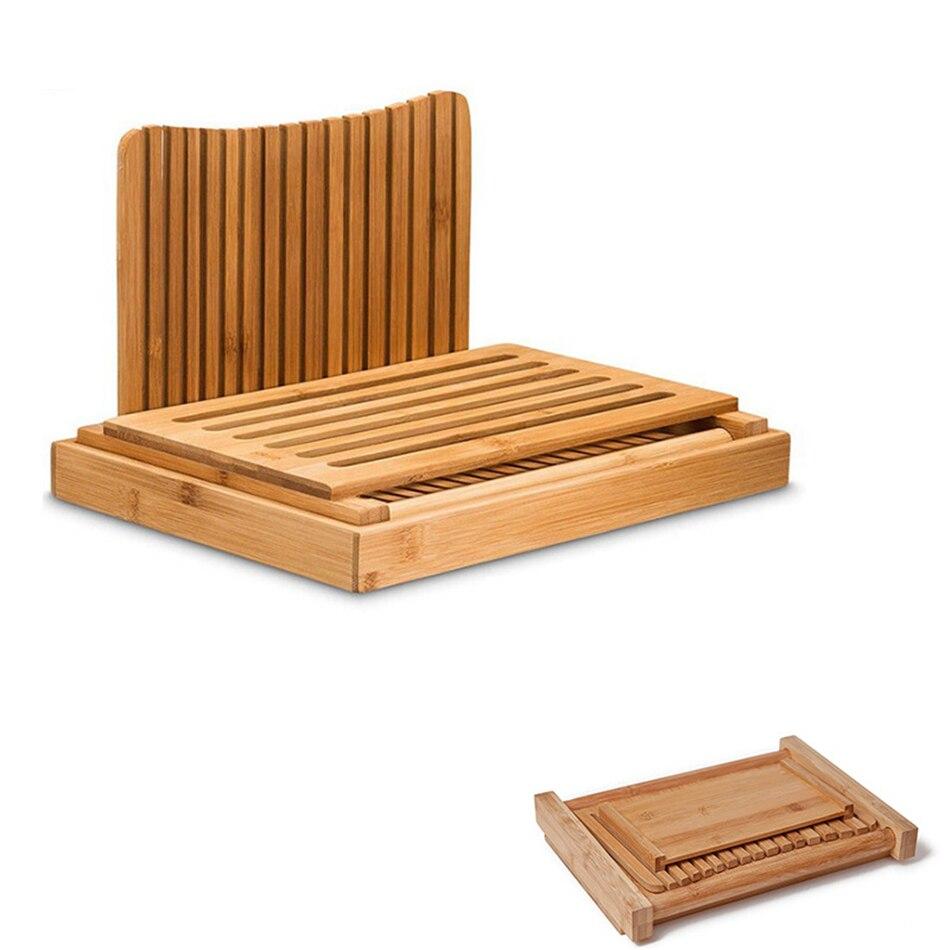 de bambu-cortador de pão de madeira para