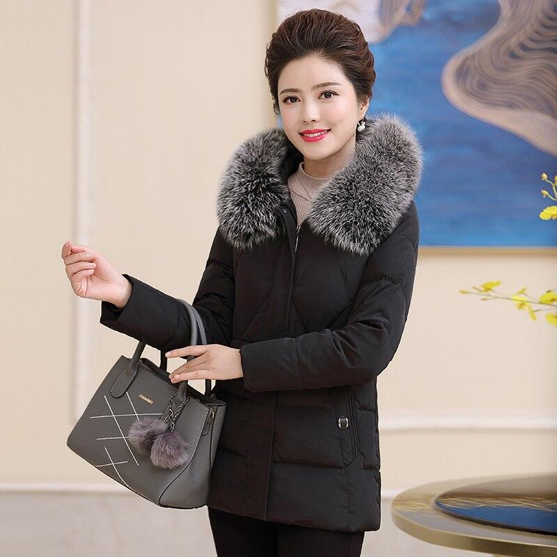 2020   Down   Jacket Woman Hooded Plus Size Winter   Coat   Women Fox Fur Collar warm Women's Duck   Down   Jacket 18 813 KJ2476