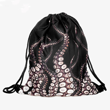 Unisex Men Women Backpacks 3D Printing Bags Drawstring Backpack String Satchel Rucksack Gift Dropshipping