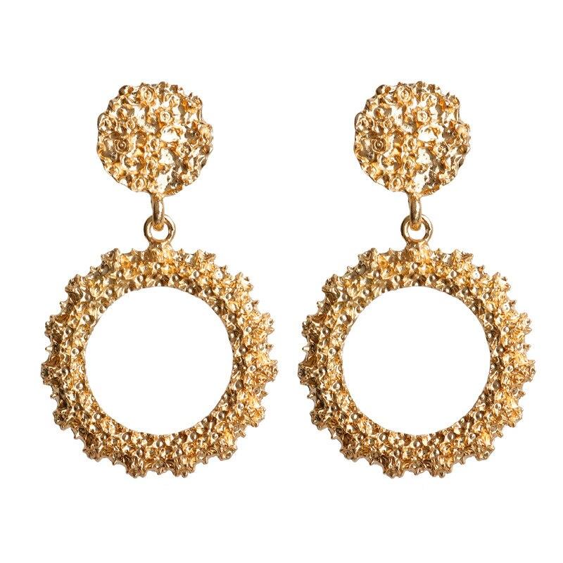 Mostyle 30 стилей модные большие винтажные золотые серебряные розовые золотые геометрические массивные металлические Висячие серьги для женщин - Окраска металла: 62949