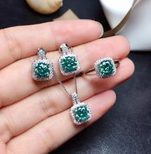 1 carat green Moissanite suit  The latest gemstone. Good color and fashionable style D VVS