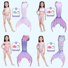 Купальный костюм для девочек с хвостом русалки детский пляжный