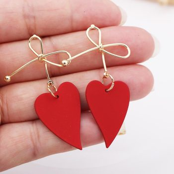 Lovely Heart Metal Earrings