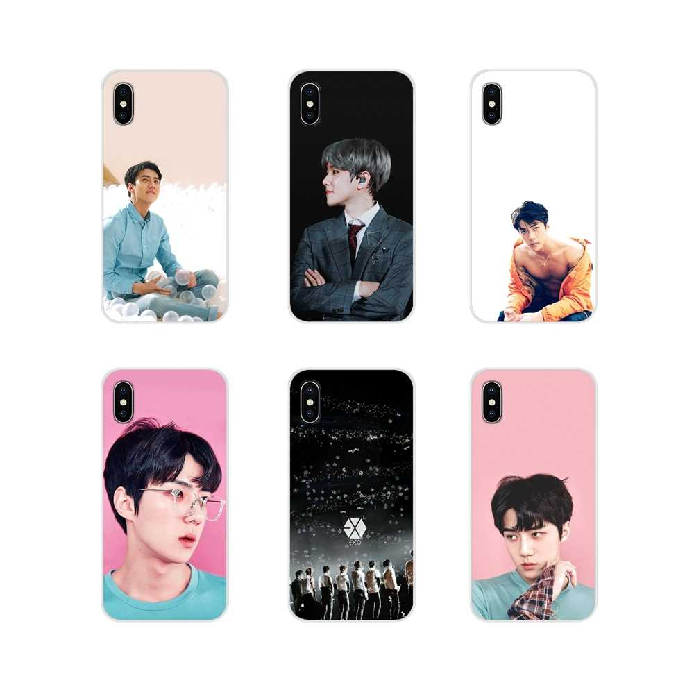 Accessories Phone Cases Covers For Samsung Galaxy A3 A5 A7 A9 A8 Star A6 Plus 2018 2015 2016 2017 EXO band BAEKHYUN SEHUN