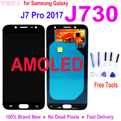 Super AMOLED LCD for SAMSUNG Galaxy J7 Pro 2017 J730 Display Touch Screen Digitizer Assembly for SM-J730F J730FM/DS J730F/DS