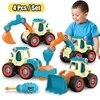 Écrou démontage ingénierie camion blocs de construction Bulldozer enfants vis garçons outil créatif éducation jouets voiture modèle pour garçon