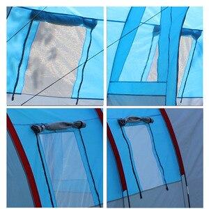 Image 4 - אוהלי קמפינג חיצוני גדול קמפינג אוהל עמיד למים בד פיברגלס 5 8 אנשים משפחה מנהרת 10 אדם אוהלי ציוד חיצוני