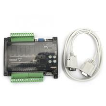 цена на PLC Industrial Control Board FX1N-20MR Programmable Controller with Shell Serial Cable 24V PLC Board
