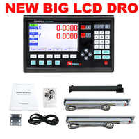 Outils complets 2 axes LCD numérique lecture Dro ensemble/Kit et 2 pièces 5U linéaire verre échelles linéaire optique règle pour fraisage/tour