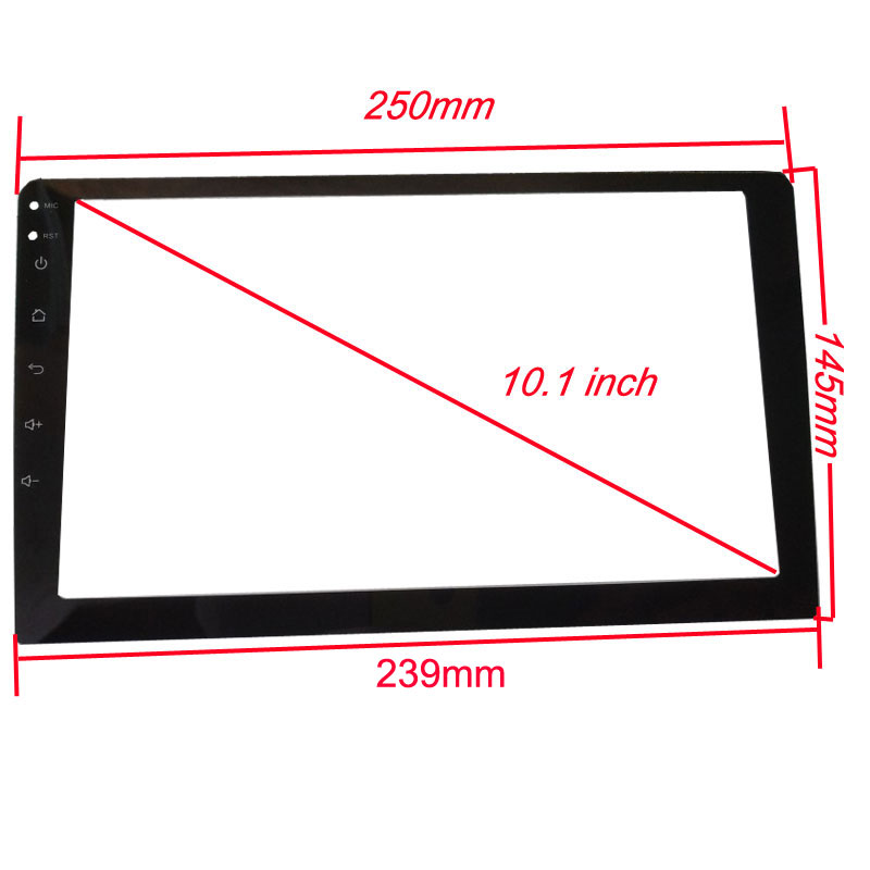 10.1 inch Car Tempered Glass Protective Film Sticker for Radio stereo DVD GPS touch full LCD screen|Interior Mouldings| |  - title=