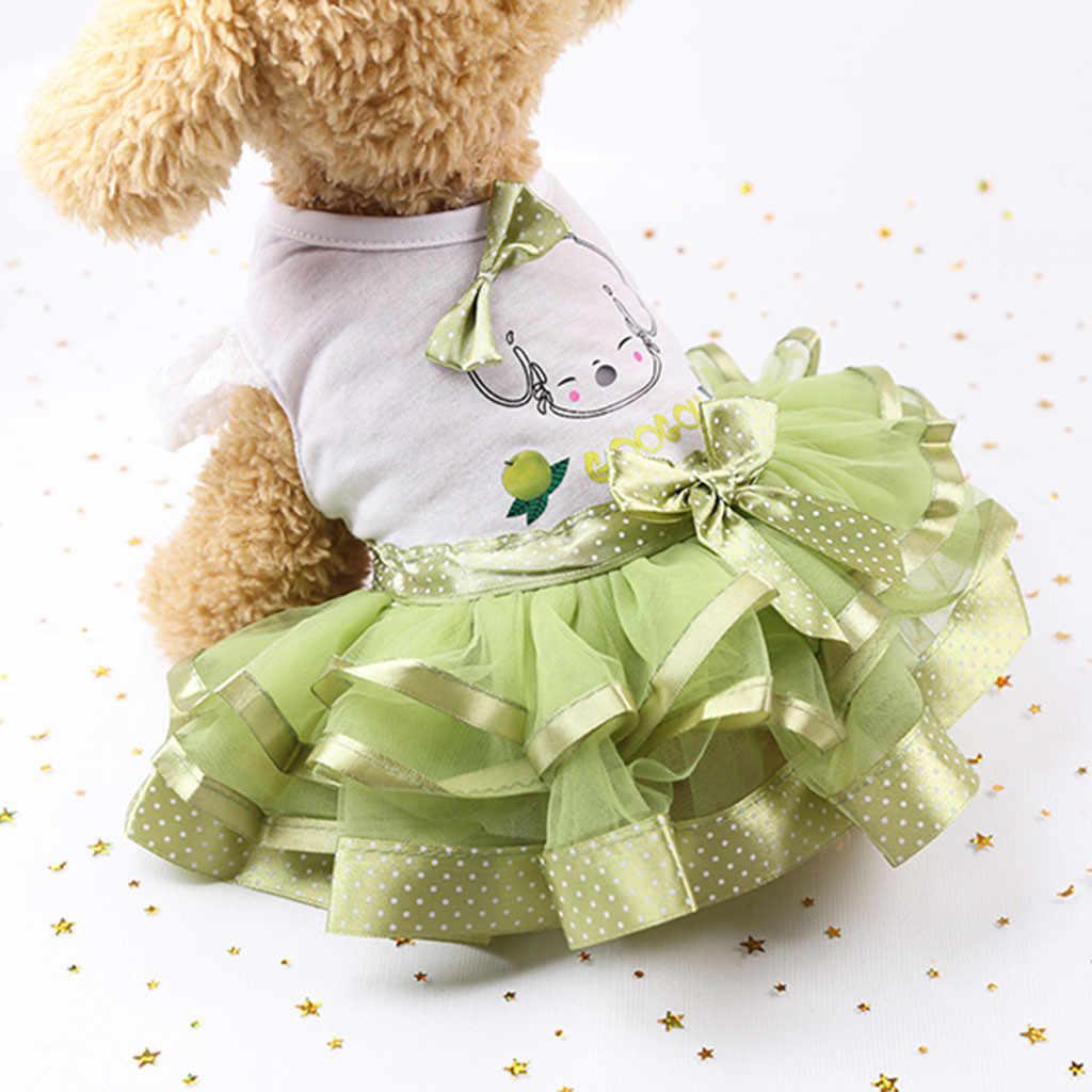Платья для собак милое летнее дышащее платье принцессы с фруктами для собак Футболка Одежда для собак disfraz perro Прямая доставка 2019 Новинка
