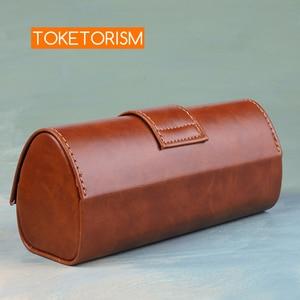 Image 3 - Toketorism Vintage Handgemaakte Glazen Doos Zonnebrillen Tassen Stijlvolle Kunstmatige Lederen Dozen