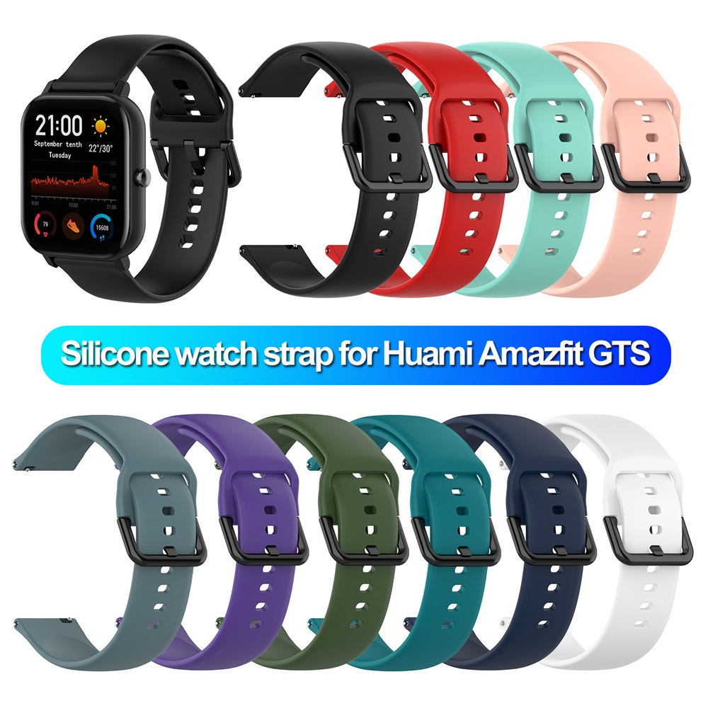 Silicone <font><b>strap</b></font> For Huami Amazfit <font><b>GTS</b></font> <font><b>Watch</b></font> Band Smart <font><b>Watch</b></font> <font><b>20mm</b></font> <font><b>Strap</b></font> Soft Sport Replacement Wrist <font><b>Strap</b></font> watchband image