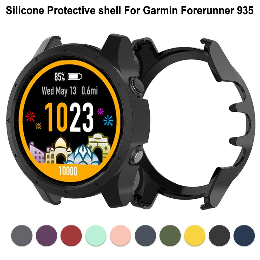 Silicone Protector Case Cover For Garmin Forerunner 935 Anti-dust Protective Shell Smart Watch Accessories 10 Colors