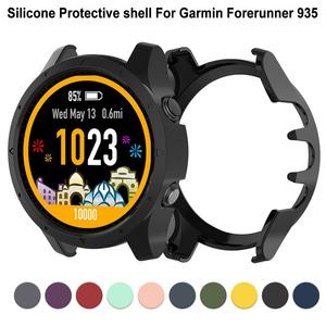 Image 1 - Silicone Protector Case Cover For Garmin Forerunner 935 Anti dust Protective Shell Smart Watch Accessories 10 Colors