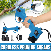 Pruning Shears Electric 2-Battery Rechargeable Cutting-Tool Secateur 500W