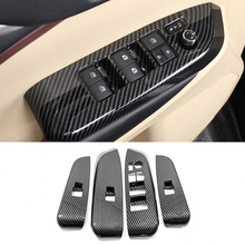 For Toyota Highlander Kluger 2014 2019 Accessories Car Door Armrest Window Glass Lift Control Switch Cover Trim Car styling 4pcs