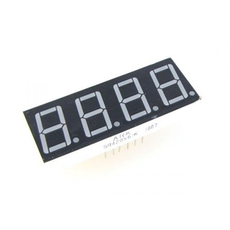 10 pièces LED affichage 0.28/0.36/0.4/0.56 pouces 7 segments 4Bit Cathode commune/Anode affichage 4 numérique 0.28