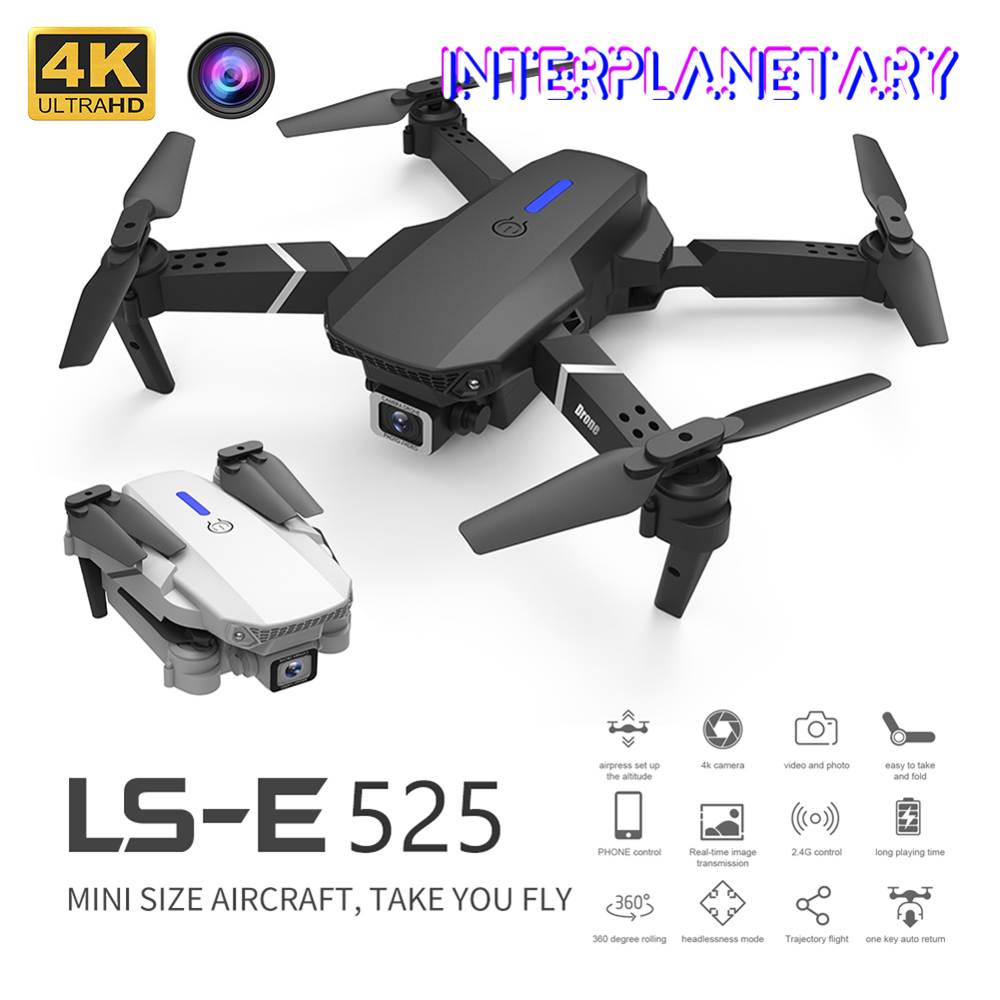 INTERPLANETARY Mini WIFI FPV Drone wide-angle high-definition 4K dual camera height keep foldable quadrotor Drone Boy Toy Gift