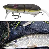 Artificial Fishing Lure Plastic Mouse Lure Swimbait Rat Fishing Bait for pike bass With Hook Fishing Tackle minnow crankbaits