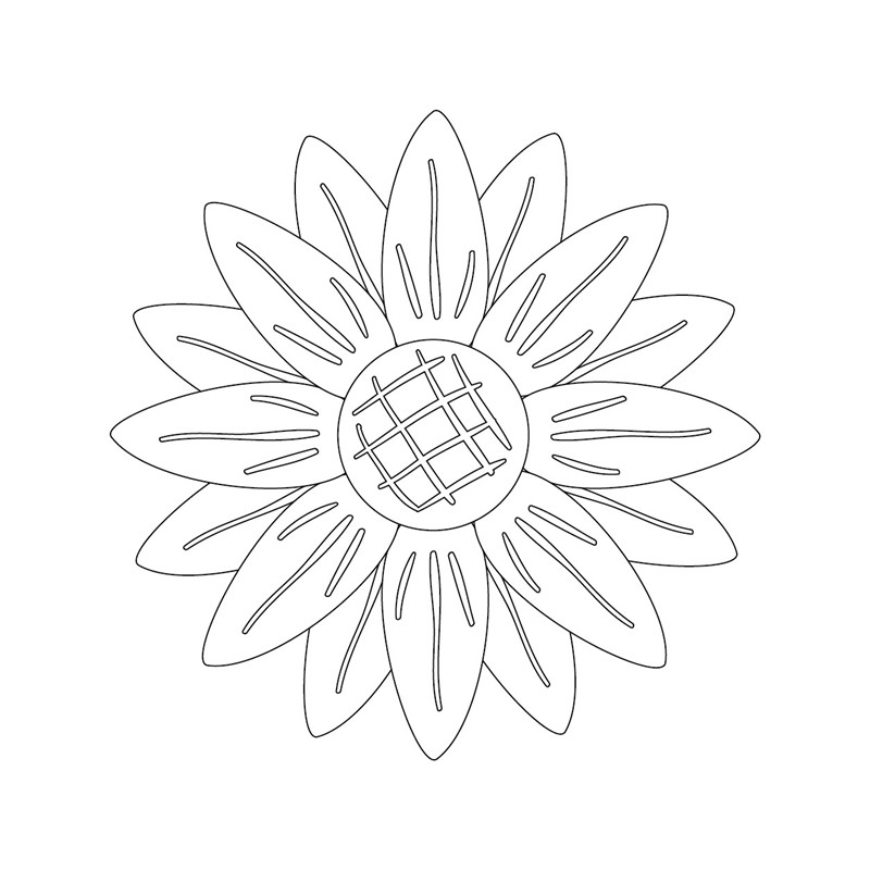 Naifumodo Flower Dies Sunflower Metal Cutting Dies for Scrapbooking Embossing Dies Cut Stencils Cards Craft Dies in Cutting Dies from Home Garden