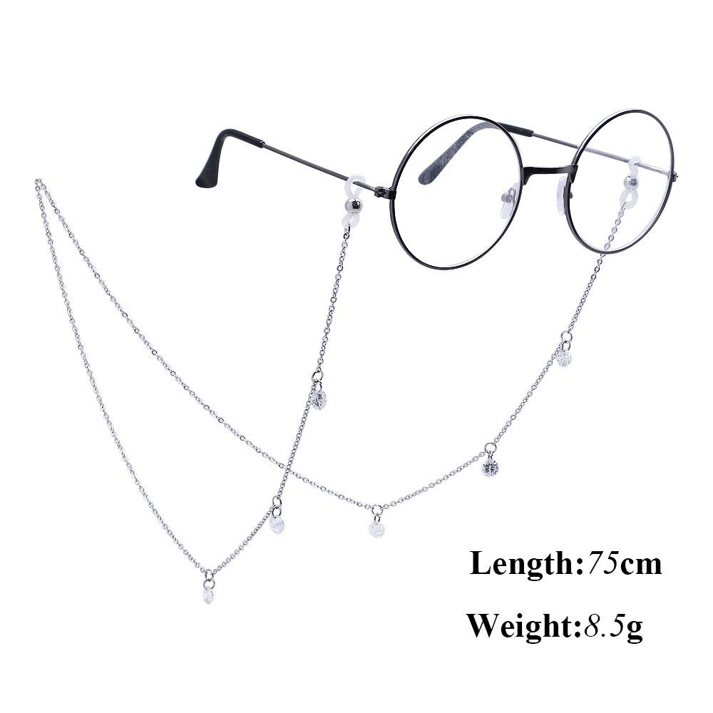Fashion Crystal Glasses Chain For Women Sunglasses Holder CZ Tassel Eyeglasses Lanyards Rope Neck Strap Eyewear Accessories