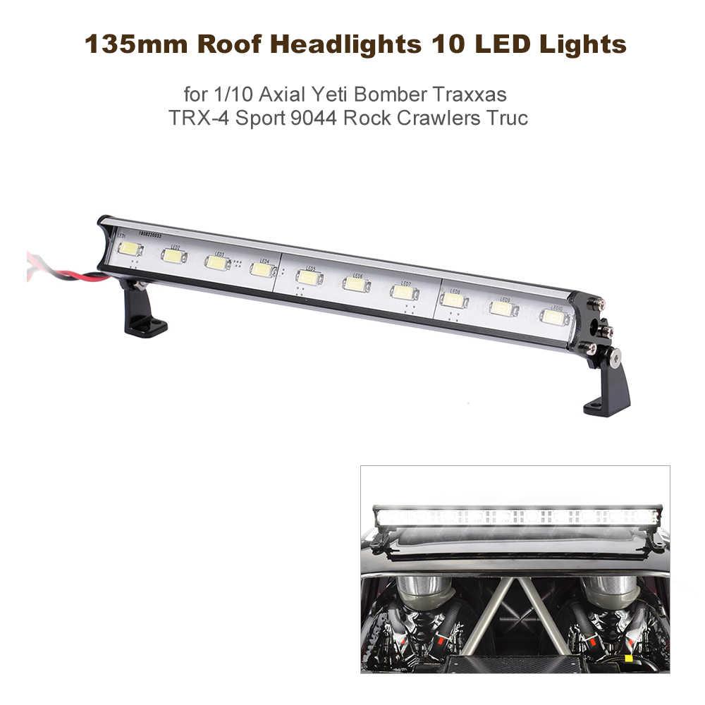 135mm Dak Koplampen 10 LED Verlichting voor Traxxas Slash 4X4 TRX4 Nitro Slash X-Maxx Axiale score RC Truck RC Off-Road Dome
