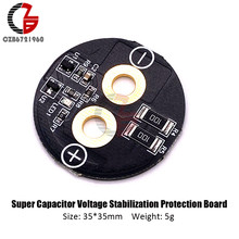 Tablero de protección del regulador de voltaje del condensador Super Farah de forma circular para el condensador de los pies del tornillo simple 2,5 V 3V/360 700F