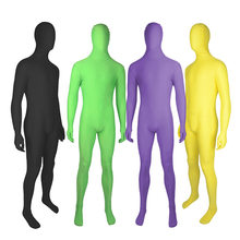 Adulto de corpo inteiro zentai terno dos homens elastano segunda pele ternos apertados festa de halloween cosplay traje preto unitard bodysuit