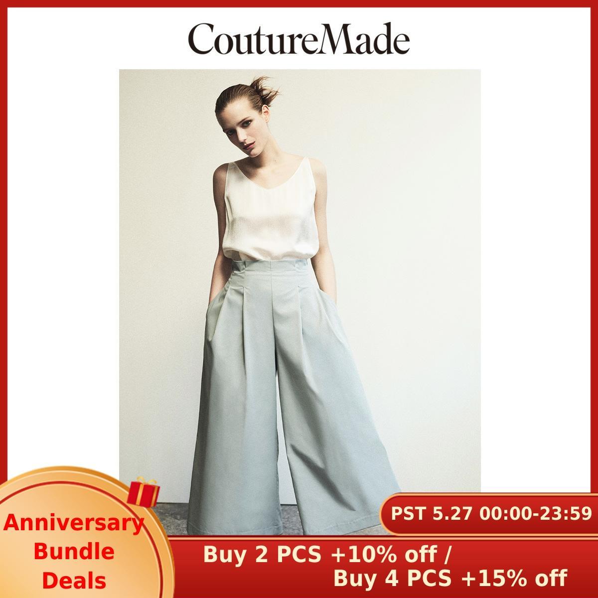 Vero Moda CoutureMade Women's Wide-leg Elasticized Back Waist Pants | 319250512