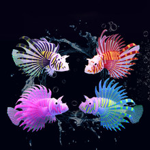 Luminoso Artificial pez león tanque de peces acuáticos paisaje de medusas peces que brillan en la oscuridad de bajo el agua de acuario adorno 2021