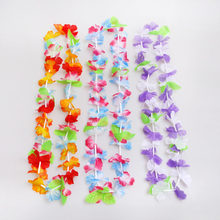 50pcs Hawaiian leis Garland Artificial Necklace Hawaii Flowers Wreath Party Supplies Beach Decor(China)
