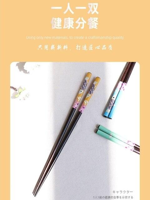 Фото 1 пара деревянные бамбуковые палочки для еды в японском стиле цена
