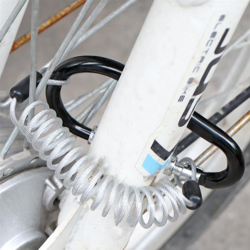 High Quality Portable Anti Theft Bike Motorcycle Helmet Lock With Resettable Code PIN 4
