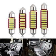 Автомобильный светодиодный светильник Festoon C5W 7020 6SMD, 36 мм, 39 мм, 41 мм, Canbus, автомобильный индикатор, купольный потолочный светильник для чтени...