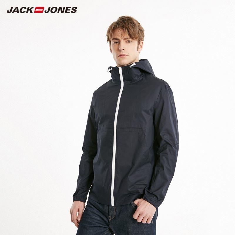 JackJones Men's Korean Thin Pure Color Hooded Jacket Sports Menswear| 219121550