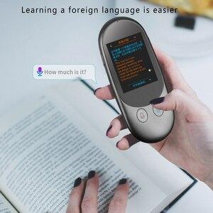 Image 2 - F1 anlık ses çevirmeni 2.4 inç dokunmatik ekran desteği 51 dil akıllı çevrimdışı çeviri fotoğraf tarama çevirmen