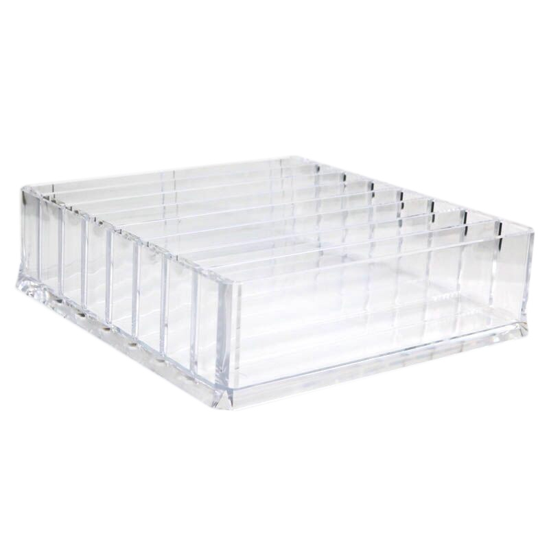 Clear Acrylic Makeup Organizer Cosmetic Storage Box Makeup Powder Box Desktop Women Lipstick Holder Organizador Maquillaje