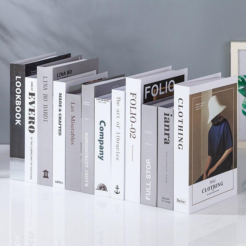 12-200 modelagem criativa adereços de adorno modernos livros falsos simulação livros sala de estar tv gabinete livros acessórios de mobiliário