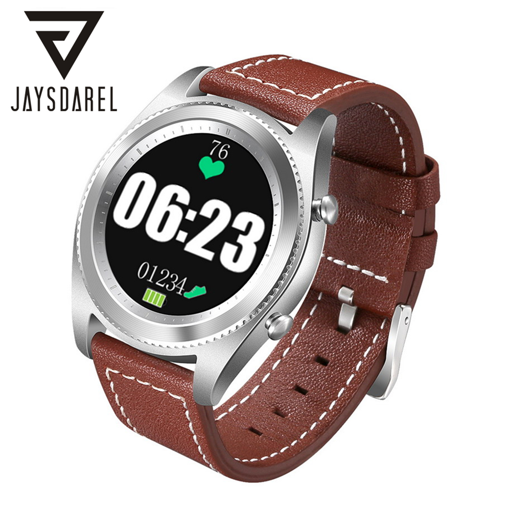 JAYSDAREL MTK2502 NFC Heart Rate Monitor Smart Watch Phone NO.1 S9 Remote Call Bracelet Smart Wristwatch For Android IOS