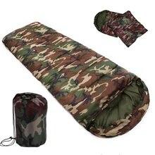 Высококачественный хлопковый спальный мешок для кемпинга 15~ 5 градусов, Стильные армейские или военные или камуфляжные спальные мешки