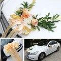 4 cor casamento carro de seda flor decoração kit europeu multi-cor cadeira de casamento volta falso flores artificiais rosas
